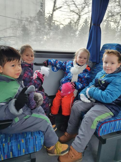 Výlet za sněhem do Hluboček